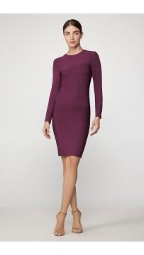 Herve Leger Icon Crewneck Mini Dress