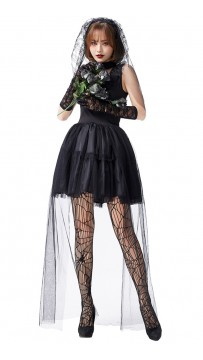 Halloween Sexy Woman Ghost Zombie Bride Costume