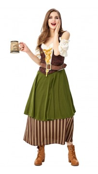 Oktoberfest New Women Bartenders Serving Beer Costume Masquerade Party Wear