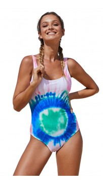 Hot Style Colorful Printed Backless Bikini Swimwear