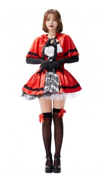 Halloween Gothic Red Riding Hood Adult Costume