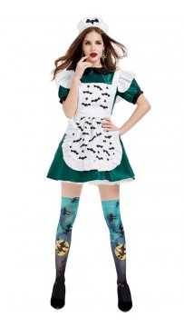 Halloween Magic Broom Evil Maid Costume