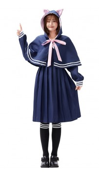 Halloween Cat Jk Uniform Pleated Skirt