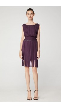 Herve Leger Portrait Fringe Ring Dress