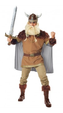 Halloween Man Valiant Viking Fancy Dress Costume