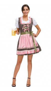 Halloween Flirty Fraulein Oktoberfest Outfit Fancy Dress Sexy Costume