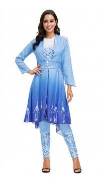 Halloween Fairy Tale Princess Snow Queen Gown