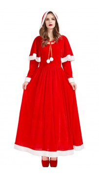 Christmas Eve Party Santa Shawl Dress