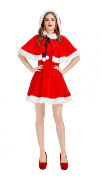 Christmas Chinese Style Retro Republican Red Dress