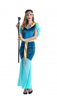 Blue Womens Egypt Goddess Halloween Costume