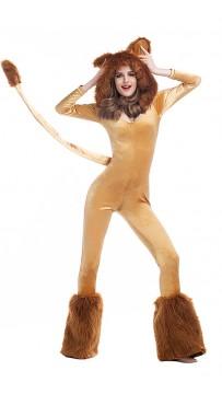 Halloween Women's Hooded Lion Costume