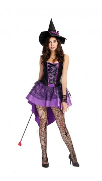 Halloween Womens Broomstick Babe Witch Costume