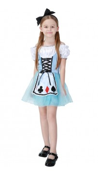 Children's Fantasy Wonderland Alice Kids Maid Costume