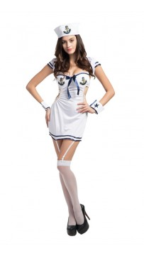 Halloween Woman Sailor Pin-Up Adult Costume