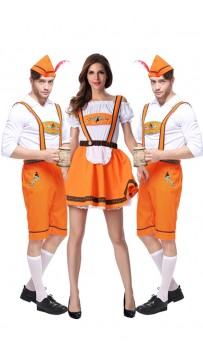 German Beer Bavarian Oktoberfest Couple Lederhosen Costume