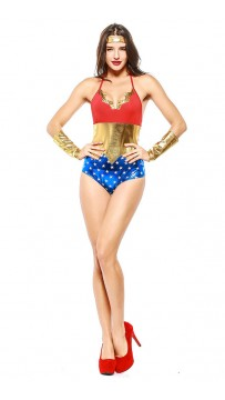 Halloween One-Piece Superhero Bronzing Costume