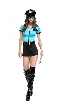 Halloween Sexy Policewoman Costume