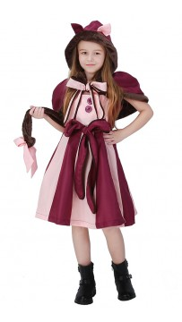 Alice In Wonderland Smiley Cat Kids Costume