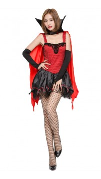 Halloween Vampire Bat Witch Costume