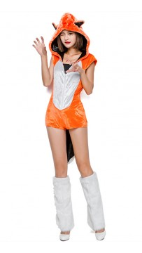 Halloween Orange Sexy Cheshire Fox Adult Halloween Costume