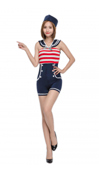 Halloween Costume Women Navy Uniform