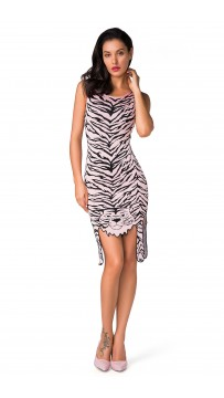 Herve Leger Celebrity Bandage Dresses Tank Cute Tiger Pink