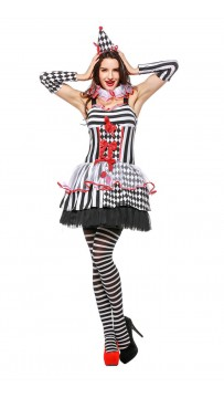 Halloween Cinched Clown Woman Halloween Costume