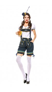 Oktoberfest Outfit Pocket Short Sleeve Costume