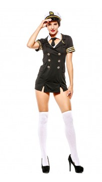 Halloween Ladies Ready for Take Off Pilot Costume