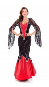 Deluxe Halloween Vampire Costume Dress for Women
