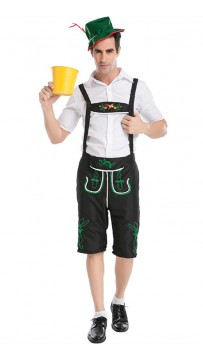 British Menswear Worker's Uniform For Oktoberfest Farmer's Game Show