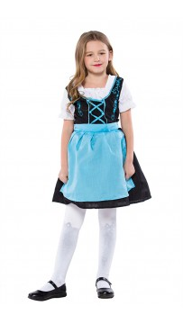 Girls German Dirndl Dress Oktoberfest Fraulein Costume