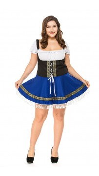 Halloween Wench Oktoberfest Swedish German Beer Girl Sexy Fancy Dress