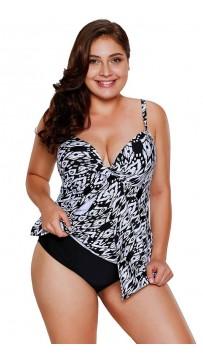 Printing Halter Swimsuit Split Plus Size Bikini