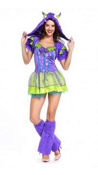 Halloween Purple Posh Monster Classic Costumes