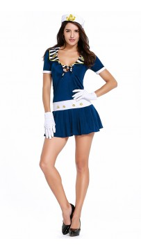 Halloween Dark Blue Navy Sailor Uniform