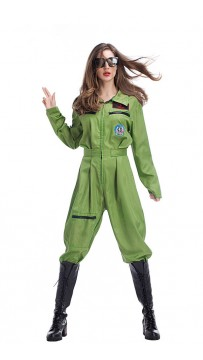 Halloween Costume Female Pilot Uniform