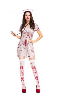 Halloween Scary Bloody Sexy Uniform Nurse Costume