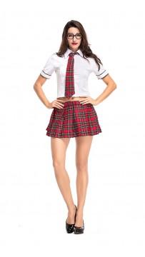 Halloween Popular Red Grid Office Teachers' Uniform