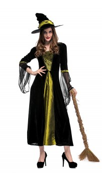 Halloween Black Spider Witch Costumes