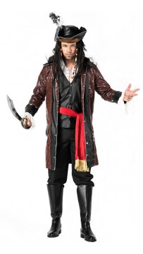 Halloween Mens Fancy Pirate Costume