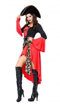 Halloween Queen Sexy Women Fancy Dress Cosplay Pirate Costume