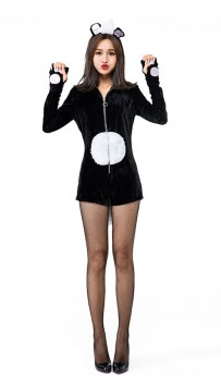 Halloween Sexy Womens Playful Skunk Costume