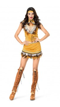 Halloween Native American Girl Costume