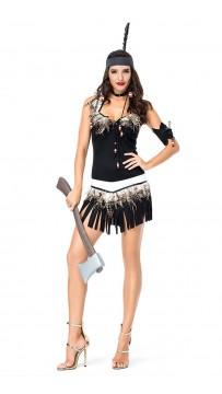 Stylish Halloween Princess Halter Dress Indian Costume