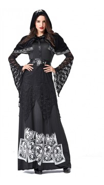 Halloween Cosplay Vampire Sorcerer Long Sleeve Costume
