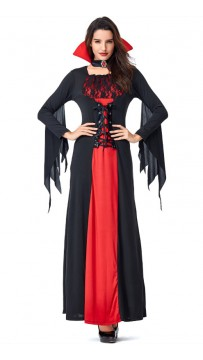 Halloween Black Lace Vampire Bat Costume