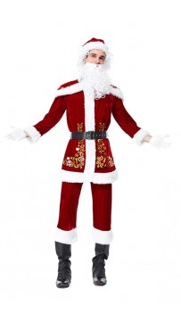 Christmas Costume Santa Claus Adult Cosplay Suit