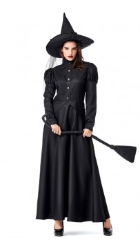 Halloween Wizard Of Oz Black Witch Costume