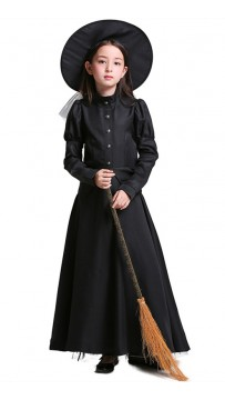 Halloween Wizard Of Oz Black Kids Witch Costume